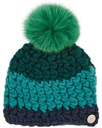 Mischa Lampert - Deep Colorblocked Wool Beanie - Lyst