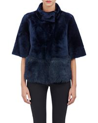 Barneys New York - Crop Shearling Jacket - Lyst