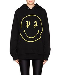 Palm Angels - Smiley-face Cotton Terry Hoodie - Lyst