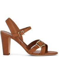 Manolo Blahnik - Rioso Leather Sandals - Lyst