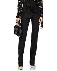 Valentino - Wool-blend Gazar Slim Trousers - Lyst