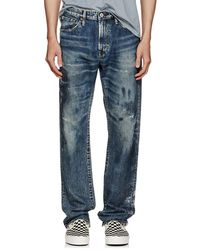 Edwin - Distressed Straight Jeans - Lyst