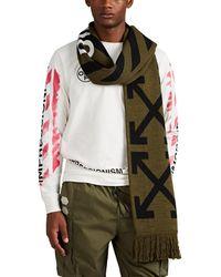Off-White c/o Virgil Abloh - Reversible Logo Rib-knit Scarf - Lyst