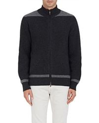 Luciano Barbera - Colorblocked Wool-cashmere Zip - Lyst