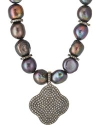 Carole Shashona - Noir Lotus Necklace - Lyst