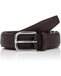 Barneys New York - Caviar Leather Belt - Lyst