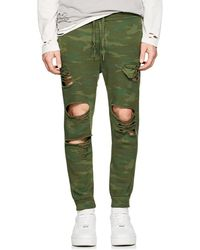 NSF - Jay Camouflage Cotton Jogger Pants - Lyst