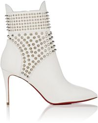 bec9f23d87ee Lyst - Christian Louboutin Otaboo 70 Spiked Suede Boot in Brown