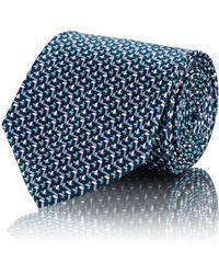 Brioni - Geometric Silk Satin Necktie - Lyst