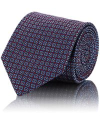 Brioni - Geometric-circle Silk Jacquard Necktie - Lyst