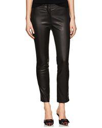 Derek Lam - Drake Leather Crop Pants - Lyst