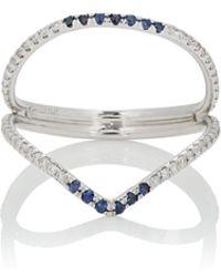Zoe - Sapphire & Diamond Ring Size 7 - Lyst
