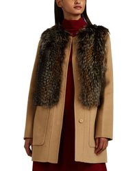 Barneys New York - Fox-fur-trimmed Wool-cashmere Melton Jacket - Lyst