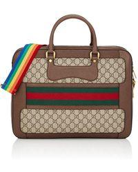Gucci - Gg Supreme Slim Briefcase - Lyst