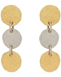 Malcolm Betts - Hammered Disc Drop Earrings - Lyst