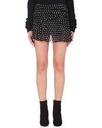 Saint Laurent - Polka Dot Gathered Miniskirt - Lyst