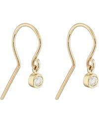 Jennifer Meyer - Diamond Bezel Drop Earrings - Lyst