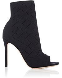 fc73530ca0ba Lyst - Christian Louboutin Jennifer Perforated Leather Open-Toe ...