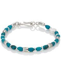 Caputo & Co. - Howlite & Sterling Silver Beaded Bracelet - Lyst