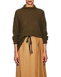 Pas De Calais - Contrast-back Wool-blend Sweater - Lyst