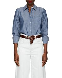 Nili Lotan | Swap Cotton Chambray Shirt | Lyst