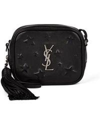 6619da27b74 Saint Laurent Monogram Blogger Crocodile-Embossed Leather Cross-Body ...