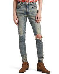 Amiri - Broken Distressed Skinny Jeans - Lyst