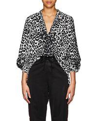 Givenchy - Leopard-pattern Silk Tunic - Lyst