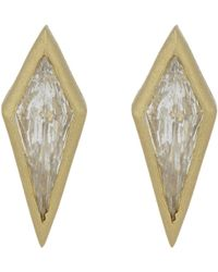 Tate - Diamond Kite Studs - Lyst