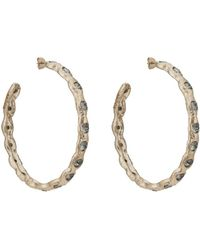 Koche - Crystal-embellished Hoop Earrings - Lyst
