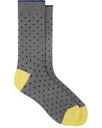 Barneys New York - Dotted Cotton-blend Mid - Lyst