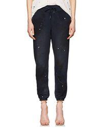 NSF - Sayde Paint-splattered Cotton Sweatpants - Lyst