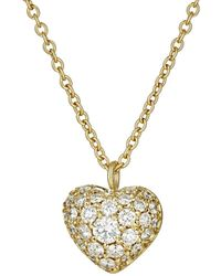 Finn - Puffed Heart Pendant Necklace - Lyst