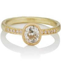 Malcolm Betts - Oval White Diamond Ring - Lyst