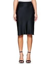 Nili Lotan | Silk Charmeuse Knee Skirt | Lyst