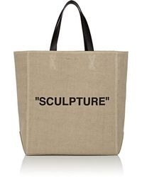 Off-White c o Virgil Abloh - sculpture Canvas Tote Bag - Lyst 47fd1fa4df539