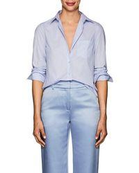 Barneys New York - Cotton Poplin Shirt - Lyst