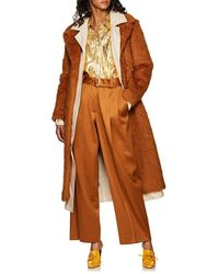 Sies Marjan - Devin Canvas-lined Faux-shearling Belted Coat - Lyst