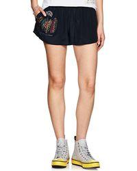 Mira Mikati - Embellished Silk Beach Shorts - Lyst