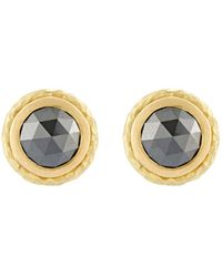 Malcolm Betts - Black Diamond Circular Stud Earrings - Lyst