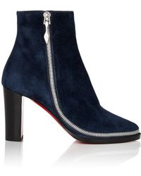 97d4cad4c6c Christian Louboutin Wavy Colorblock Suede Red Sole Boot - Lyst