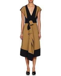 Proenza Schouler - Cady & Crepe Ruffle Dress - Lyst