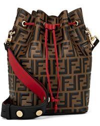 Fendi - Mon Tresor Large Leather Bucket Bag - Lyst