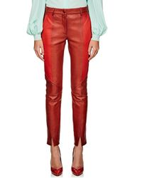 Givenchy - Colorblocked Leather Trousers - Lyst