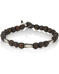 Caputo & Co. - Beaded Waxed Cord Bracelet - Lyst