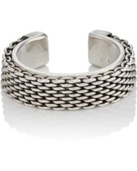Title Of Work - Sterling Silver Cuff Ring - Lyst