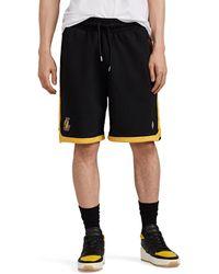 Marcelo Burlon - Los Angeles Lakerstm Cotton French Terry Shorts - Lyst
