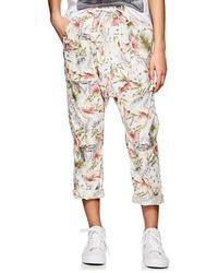 NSF - Jojo Floral Cotton Drop-rise Pants - Lyst