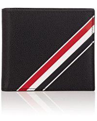 Thom Browne - Striped Pebble-grain Leather Billfold Wallet - Lyst