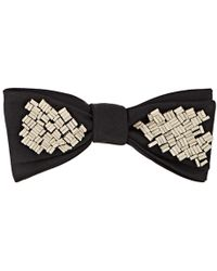 Title Of Work - Beaded Silk Twill Bow Tie - Lyst